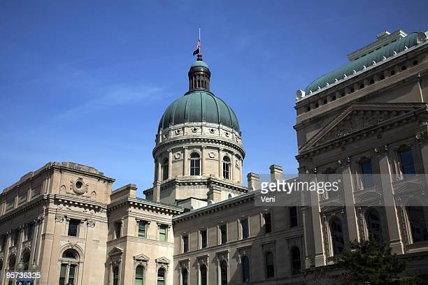 state capitol building, indianapolis - indiana stock pictures, royalty-free photos & images