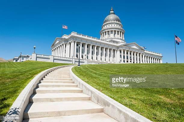 State Capitol Building Stars and Stripes Salt Lake City Utah