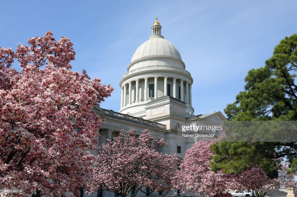 State Capitol of Arkansas in spring : Stock-Foto
