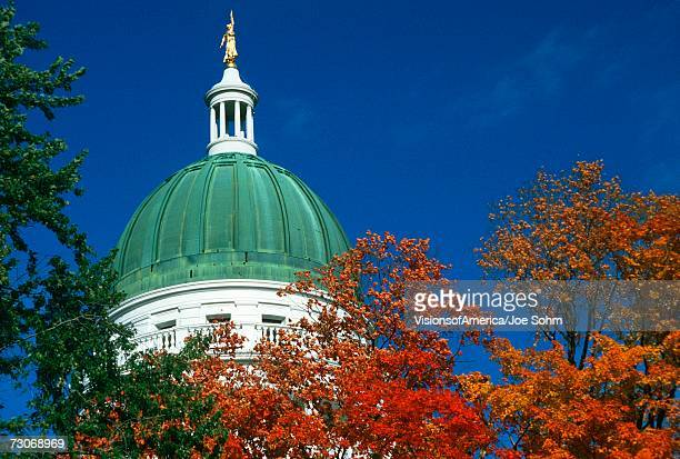 """""""state capitol of maine, augusta"""" - augusta maine stock pictures, royalty-free photos & images"""