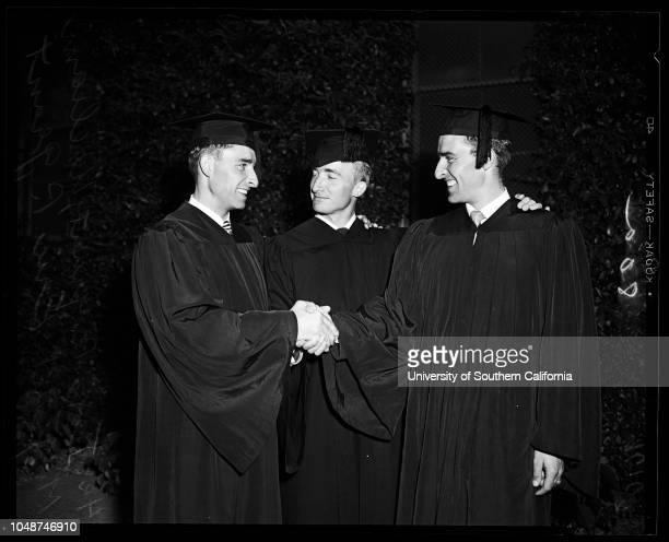 State College Commencement, 19 June 1952. Ian R Grant ;William M Grant ;Eric P Grant ;Mr and Mrs G.M Grant;..
