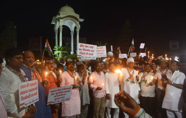 IND: Congress Protest March Against The Death Of Children Due To AES In Muzaffarpur