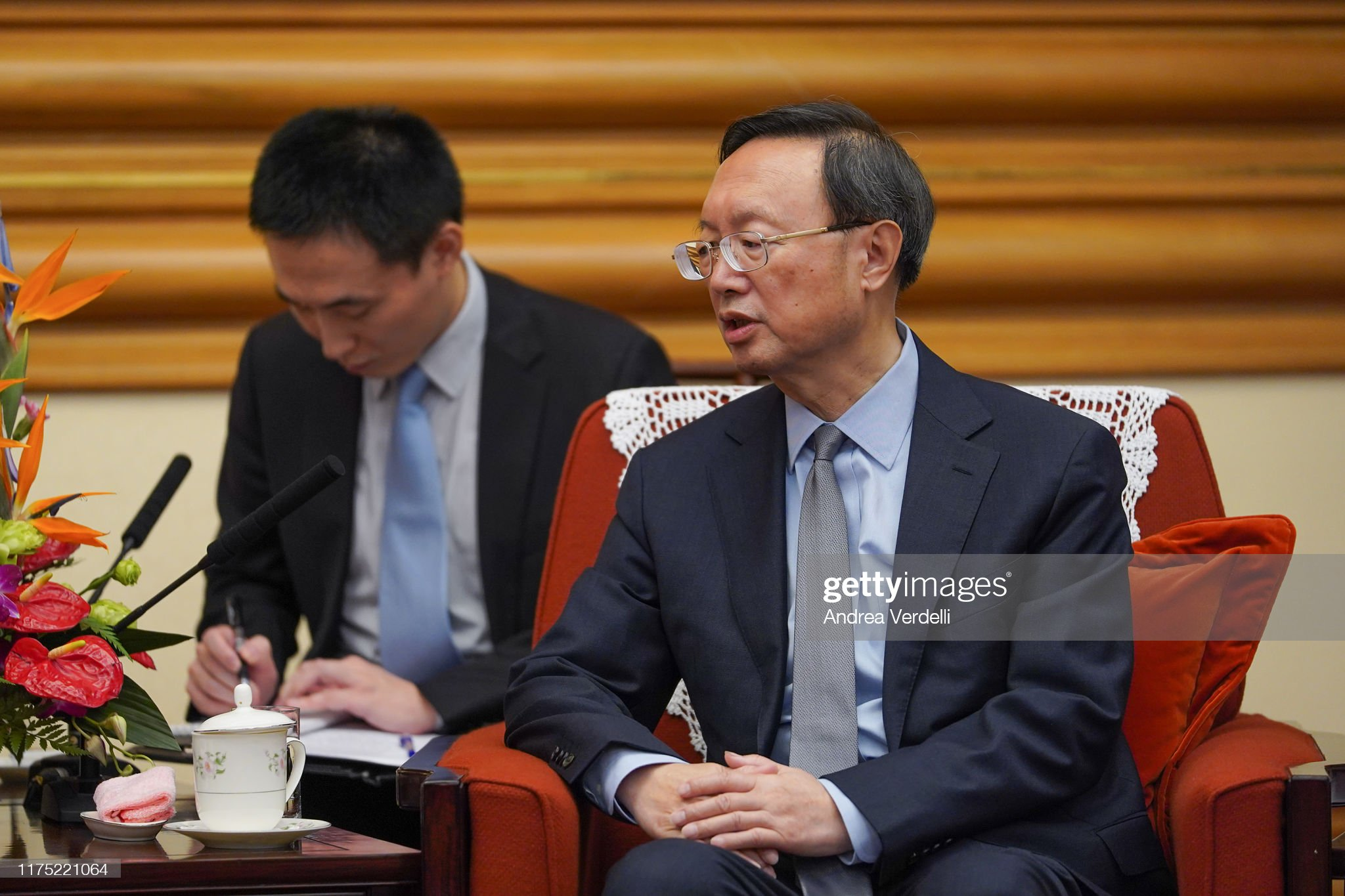 State Councilor Yang Jiechi Meets Minister Of The Presidency Of Dominican : News Photo