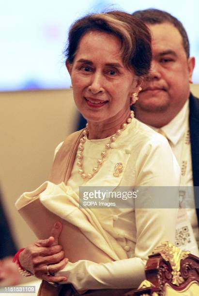 State Counsellor of The Republic of The Union of Myanmar Daw Aung San Suu Kyi attends a 34th ASEAN Summit in Bangkok The ASEAN Summit is a biannual...