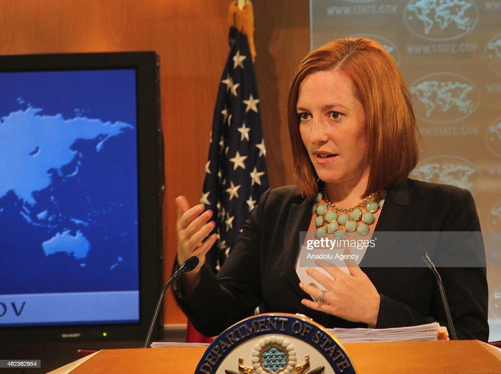 US State Department spokesperson Psaki's press conference : News Photo