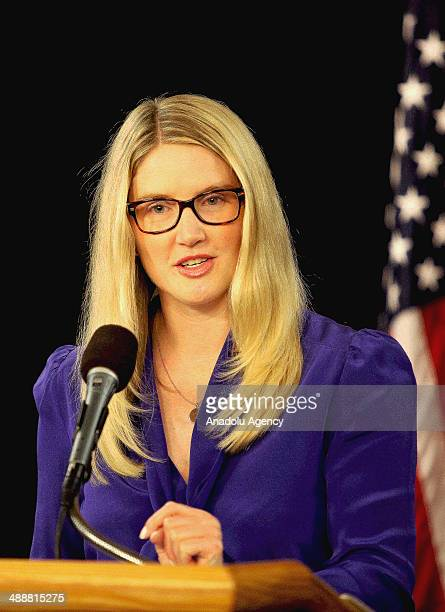 State Department Spokesperson Marie Harf answers the questions at the Foreign Press Center in Washington US on May 8 2014