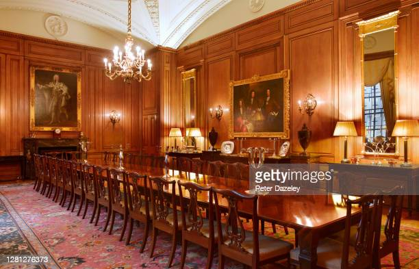 State Dining Room of 10 Downing Street during December 2013 in London,England.