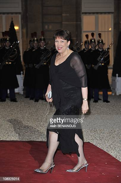 State dinner for Russian President Dmitry Medvedeva Roselyne BachelotNarquin Minister of Health and Sports in Paris France on March 02nd 2010