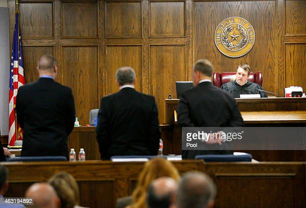 State District Judge Jason Cashon addresses former Marine Cpl Eddie Ray Routh as he appears in court on the opening day of his capital murder trial...