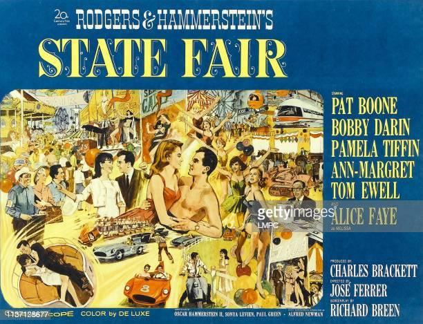 State Fair poster Pat Boone AnnMargret Bobby Darin Pamela Tiffin Tom Ewell Alice Faye 1962
