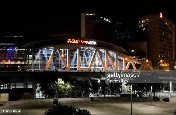 State Farm Arena home of the Atlanta Hawks and WNBA Atlanta Dream basketball teams in Atlanta Georgia on July 27 2019