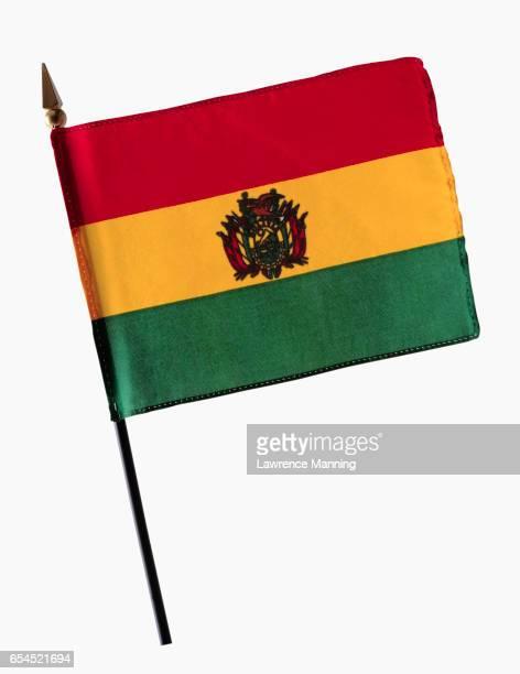 state flag of bolivia - bandera boliviana fotografías e imágenes de stock