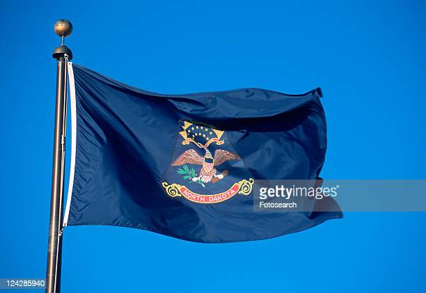 state flag of north dakota - north dakota stock pictures, royalty-free photos & images