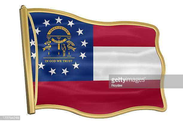 us state flag pin - georgia - georgia us state stock pictures, royalty-free photos & images
