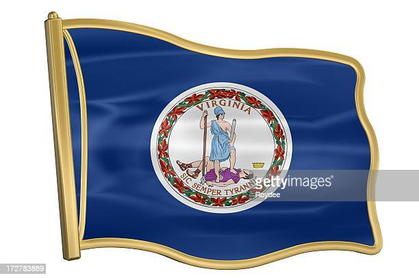 us state flag pin - virginia - virginia us state stock pictures, royalty-free photos & images