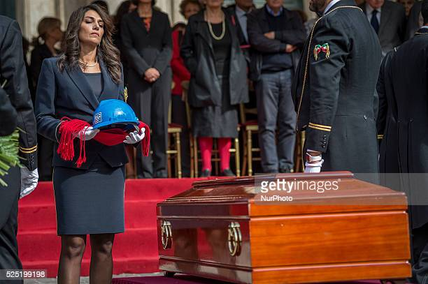 State funeral in Piazza Montecitorio, Rome for Pietro Ingrao on September 30, 2015. Pietro Ingrao was a historic leader of the Communist Party and...