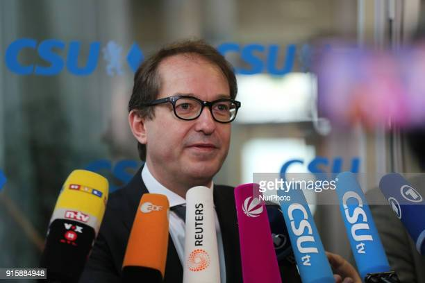 CSU state group leader in the German Parliament Bundestag Alexander Dobrindt The board of the Christian Social Union met to discuss after the end of...