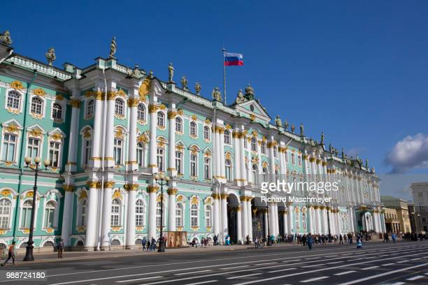 state hermitage museum, unesco world heritage site, st. petersburg, russia, europe - st. petersburg russia stock pictures, royalty-free photos & images