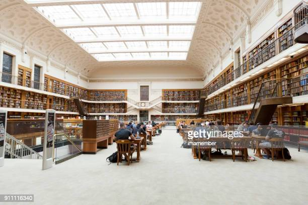 state libary of nsw with people studying and reading - global entry stock pictures, royalty-free photos & images