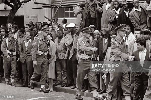 A State of Emergency is declared in South Africa during a period of industrial action and protest by the black population 1960