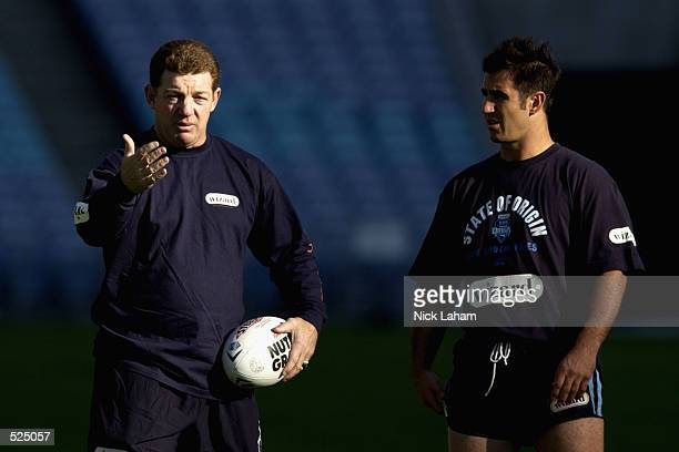 State of Origin coach Phil Gould during the New South Wales State of Origin training held at Stadium Australia, Sydney, Australia on May 16th, 2002.