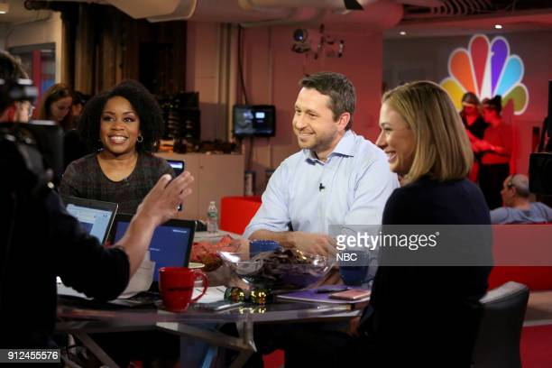 NBC NEWS SPECIALS 'State of the Union Watch Party 2018' Pictured Kim Atkins Eli Stokols Elise Jordan
