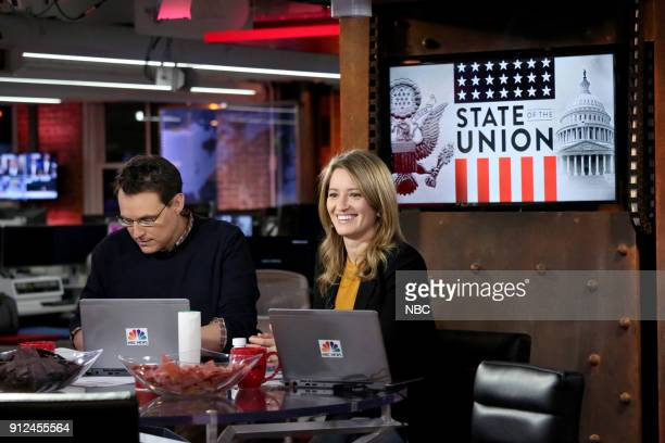 NBC NEWS SPECIALS State of the Union Watch Party 2018 Pictured Steve Kornacki Katy Tur