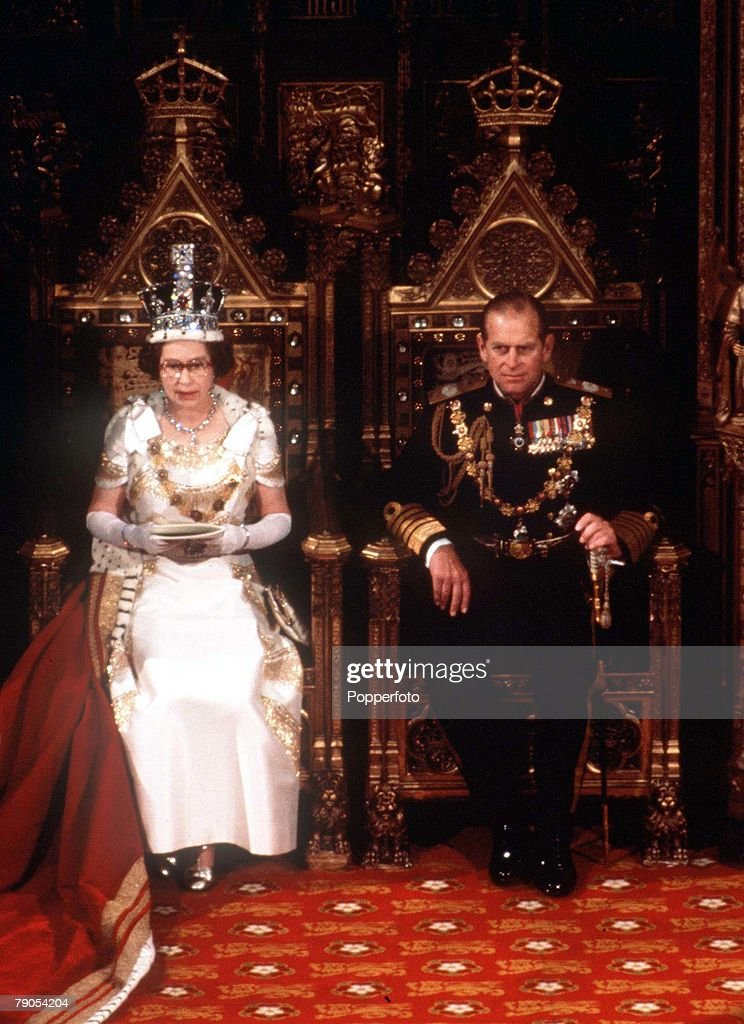 1978. State Opening of Parliament. Queen Elizabeth II with Prince Philip. : News Photo