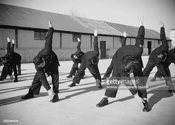 State Police cadets in training Valle Giulia Rome circa 1960