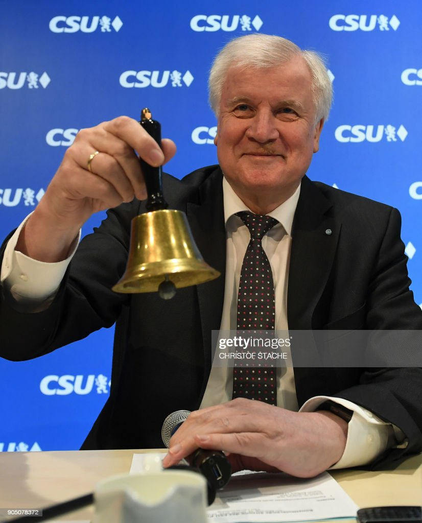 Leadership meeting of the Bavarian CSU party in Munich