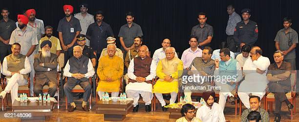 State President BJP Punjab Vijay Sampla Punjab CM Parkash Singh Badal Governor of Chhattisgarh Balram Ji Dass Tandon RSS Chief Mohan Bhagwat Haryana...