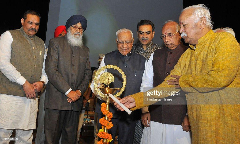 State President BJP Punjab Vijay Sampla Punjab CM Parkash Singh Badal Governor of Chhattisgarh Balram Ji Dass Tandon Haryana Governor Kaptan Singh...