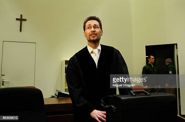 State prosecutor Thomas SteinkrausKoch is pictured in court on March 9 2009 in Munich Germany Helg Sgarbi has been charged with blackmailing a string...