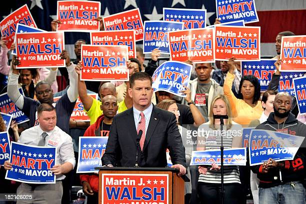 State Representative and Dorchester resident Marty Walsh advances to the November 2013 general election out of a field of 12 preliminary candidates...