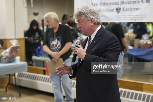 State Representative Michael Brady speaks during a campaign stop in Brockton MA on Nov 1 2015 Brady is running against Republican State...