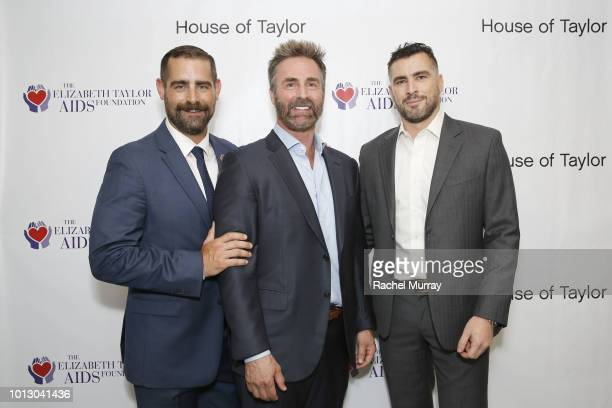 State Representative of PA and CoHost Brian Sims and CEO/CoFounder of Prosearch Strategies Trevor Allen and Ben Casta attend the House of Taylor...