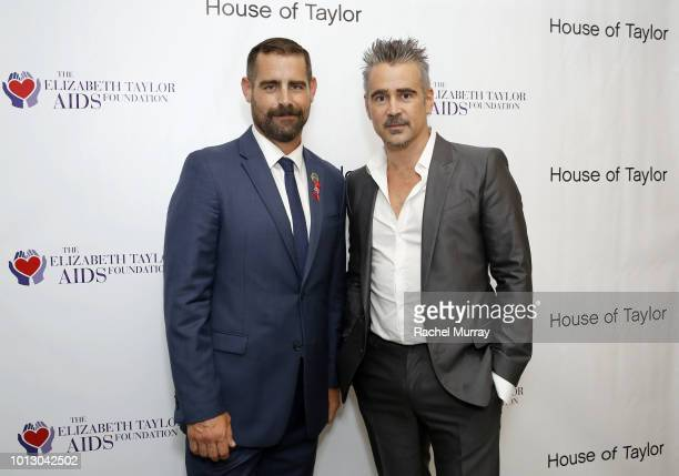 State Representative of PA and CoHost Brian Sims and ETAF Ambassador and CoHost Colin Farrell attend the House of Taylor dinner benefitting The...