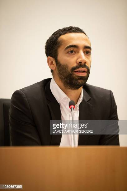 State Secretary for Asylum and Migration policy Sammy Mahdi attends a session of the Chamber Commission Interior Affairs, at the federal parliament,...