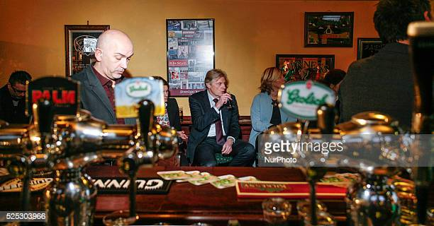 State Secretary Martin van Rijn is seen in the O'Caseys pub in The Hague during the kick off of the smoke free pub campaign Mister Van Rijn who is...