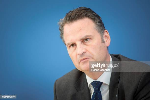 State Secretary ob the Federal Ministry of the Interior Guenter Krings is pictured after a press conference on June 14 2017 in Berlin Germany