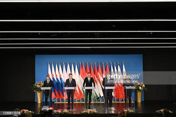 State secretary of Foreign and European Affairs Martin Klus of Slovakia, the Minister of National Defence Mariusz Blaszczak of Poland, Minister of...