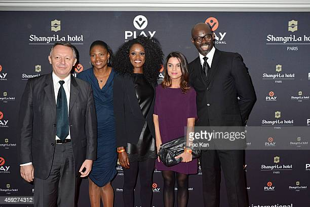State Secretary to Sports Thierry Braillard, Athlete Muriel Hurtis, Basketball player Emilie Gomis, journalist Cecile Gres and Sylvere Henry Cisse...