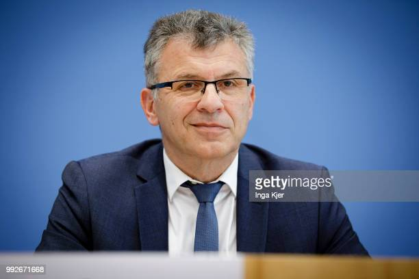 State Secretary Werner Gatzer captured at the federal press conference on July 06 2018 in Berlin Germany