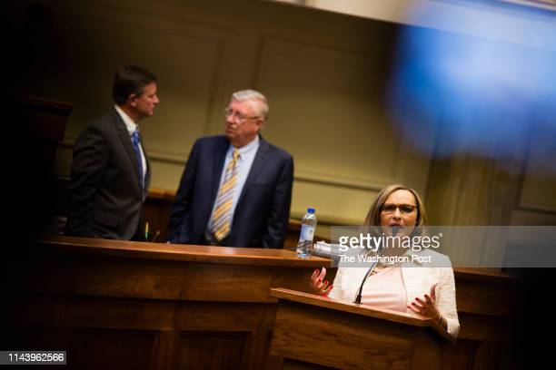 MONTGOMERY AL MAY 14 State Sen Vivian Davis Figures filibusters in opposition to HB314 which will ban abortions in all cases except the health of the...