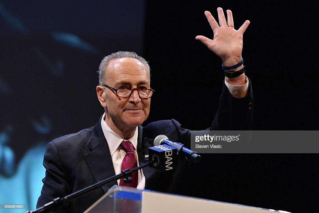 NY State Senator Chuck Schumer attends BAM's 30th Annual Tribute To Dr. Martin Luther King, Jr. at BAM Howard Gilman Opera House on January 18, 2016 in New York City.