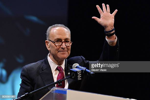 State Senator Chuck Schumer attends BAM's 30th Annual Tribute To Dr Martin Luther King Jr at BAM Howard Gilman Opera House on January 18 2016 in New...