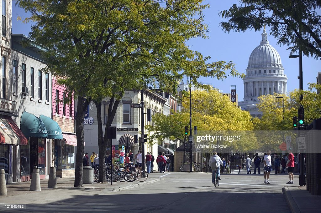State Street Pedestrian Mall, Madison, WI : Stock Photo