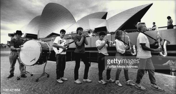 State tour of schoolkids musical troupeThe big band outside the opera houseMatthew Moore Andrew Isbister Guitear Colin Stevens Trombone John Byrne...