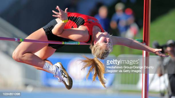 Scott Varley/LANG CIF State track and field finals at Veterans Memorial Stadium in Clovis CA Rio Mesa's Raegan Nizdil finished 8th in the high jump