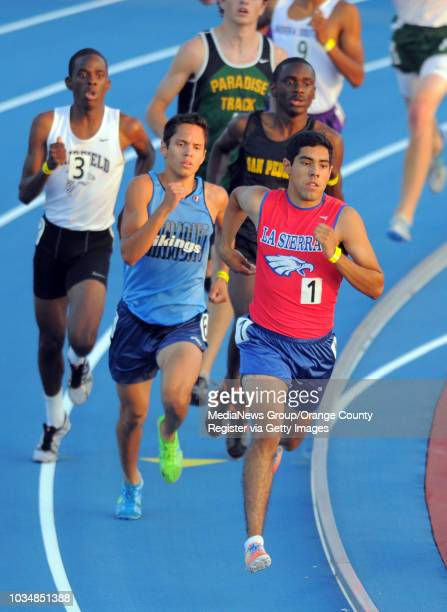 State track and field prelims at Veterans Memorial Stadium in Clovis, CA. Edgar Cobian of La Sierra qualified in 8th for the 800m run.